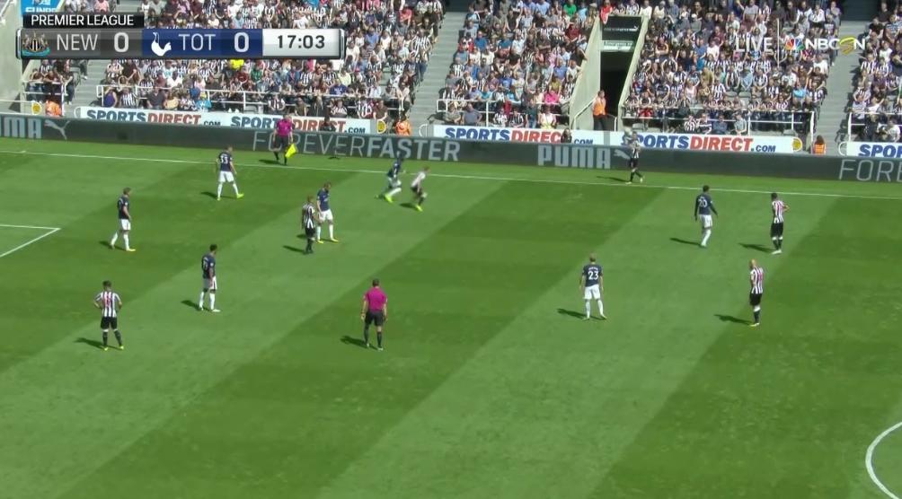 Vi ser Newcastle mot Tottenham fra Premier League den 13 august, 2017 på Fubo TV