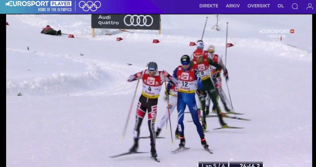 Ser på kombinert på Eurosportplayer noen dager før vinter OL