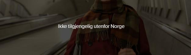 Feilmelding når du forsøker å se NRK i utlandet