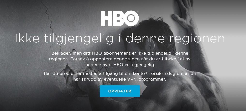 HBO - Ikke tilgjengelig i denne regionen