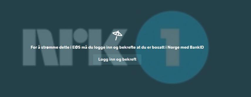 Norsk BankID for å se NRK i utlandet