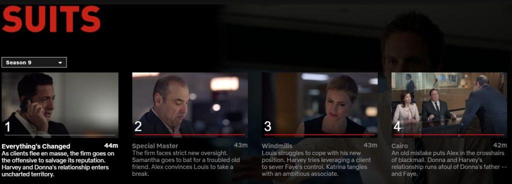 Suits 9 Netflix